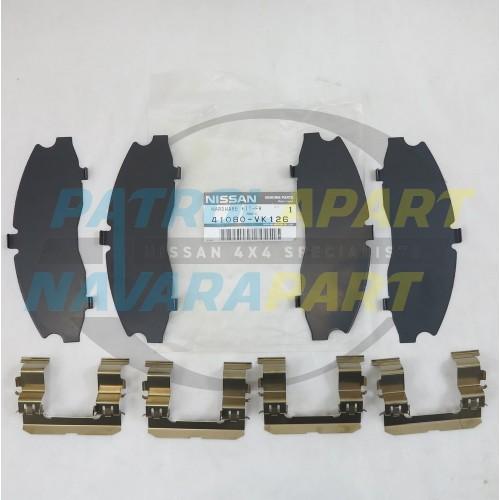 Genuine Nissan Navara D22 4WD Front Brake Caliper Shim Kit