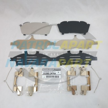 Genuine Nissan Navara D40 Thai YD25 Front Brake Caliper Shim Kit