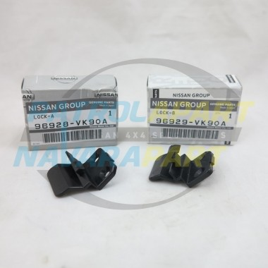 Genuine Nissan Navara D22 Console Lid Lock Latch Set 2000on