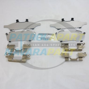 Genuine Nissan Navara D40 YD25 VQ40 Front Brake Caliper Shim Kit