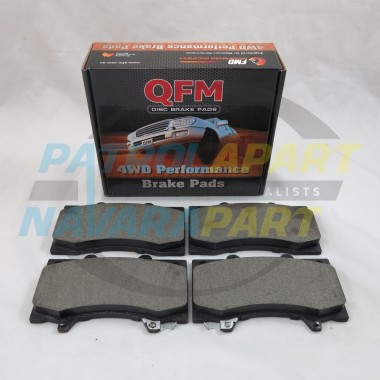 Nissan Navara D22 4WD QFM Front Brake Pads Set 1997-2012 295mm