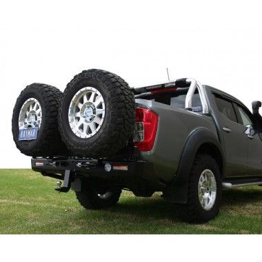 Nissan Navara D23 NP300 Kaymar Rear Bar with Twin Tyre Carriers