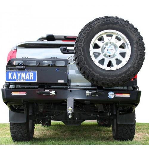 Nissan Navara D23 NP300 Kaymar Rear Bar with RH Tyre Carrier & LH Dual Jerry Can Holder