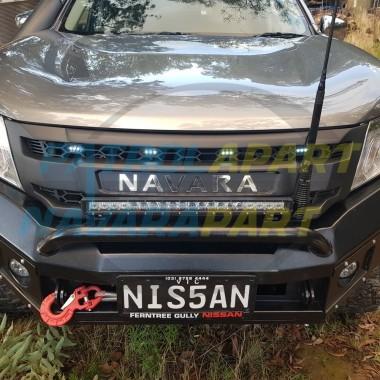 D23 NP300 Nissan Navara Grille Mirror Lettering Logo LED DRL