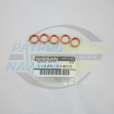 Nissan Navara / Pathfinder Genuine Small Sump Plug Washer SET