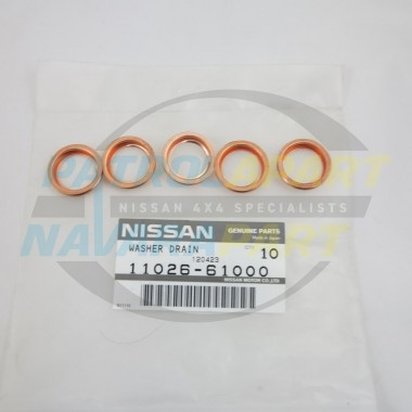 Nissan Navara Genuine Large Sump Plug Washer SET