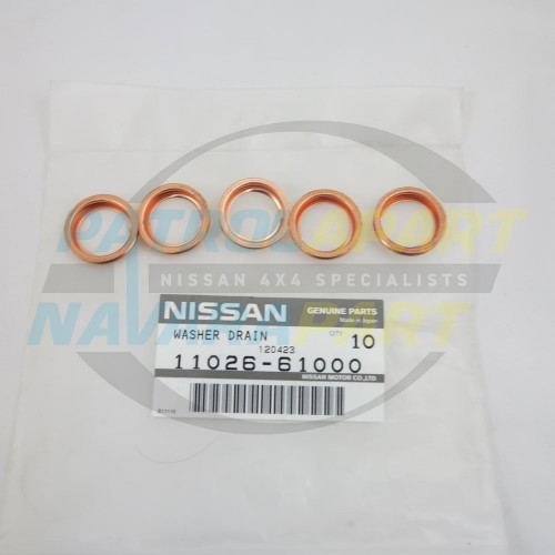 Nissan Navara Genuine Large Sump Plug Washer SET