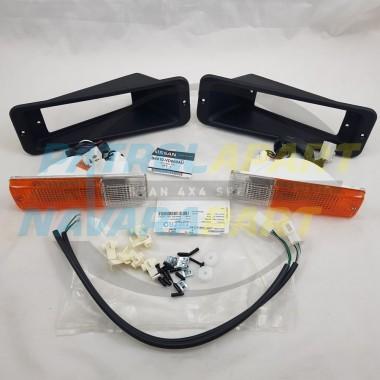 Genuine Nissan Patrol D22 D40 Steel BullBar Indicator Complete Light Kit