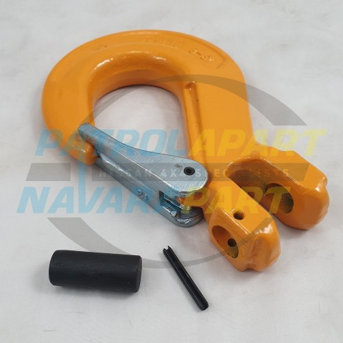 Winch Recovery Yellow Hook Large with Pin suit Warn, VRS, Runva, Carbon