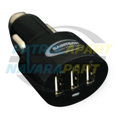 Baintech Ciga Plug Triple USB Car Charger 5V 5.2A TOTAL 2x2.1A & 1x1A