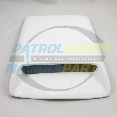 Universal Fiberglass White Bonnet Scoop 415mm Long 330mm Wide for 4x4 4WD