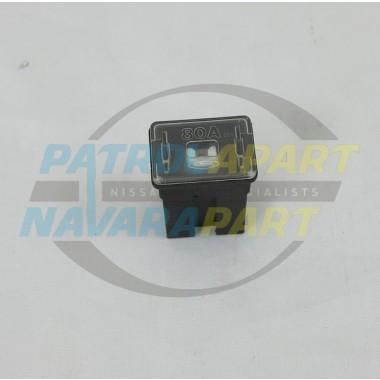 Nissan Patrol GU 80Amp Push in Black Fuse S/H