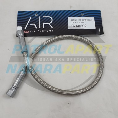ARB Stainless Braided Hose 50cm Compressor to Remote Outlet Fitting