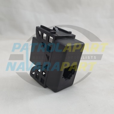 KO-GEAR UHF Radio Microphone RJ45 Pass Through Adaptor For Nissan