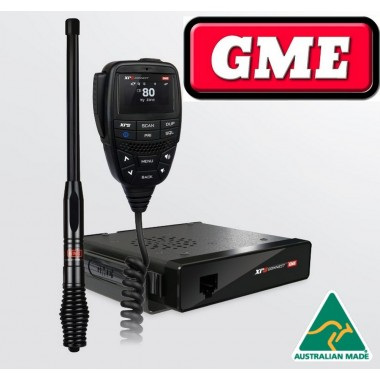 GME XRS Connect 370C Compact UHF CB Radio with Bluetooth 4WD PACK