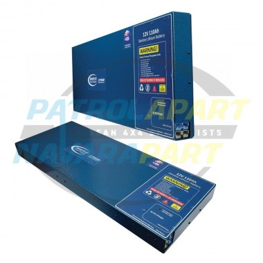 Lithium 110Ah Slimline Battery With 20A DC-DC Charger Inbuilt 5 Year Warranty