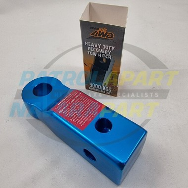 Alloy 5000kg Rated 50x50mm Receiver Blue Recovery Hitch by Roadsafe for 4wd 4X4
