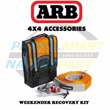 ARB Weekender Recovery Kit with Bag, Snatch Strap, Gloves & 2 x 4.75t Shackles