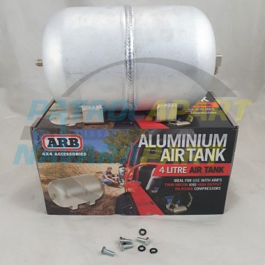 ARB 4L Alloy Air Tank with 2 Fittings for High Output Compressors / Tyre Inflation