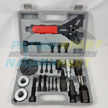 A/C Air Conditioning Compressor Clutch Removal Tool Kit 23 piece for Nissan Navara