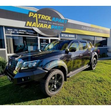 Matt Black Bolt On Look Wheel Arch Flares fits Nissan Navara D23 MY21 NP300 S5