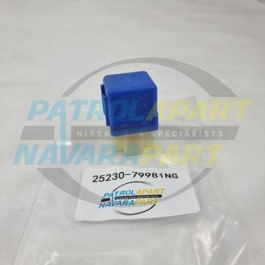 Blue 4 Pin Relay Suit Nissan Navara D22 D40 D23 NP300