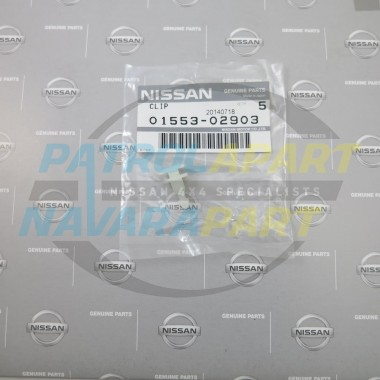 Genuine Nissan Navara D22 Flare Stud - White Male