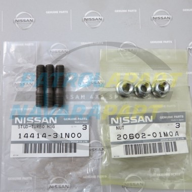 Genuine Nissan Navara D22 ZD30 Turbo to Manifold Studs & Nuts