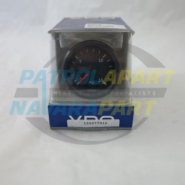 Genuine VDO Turbo Boost Gauge 0-15 psi
