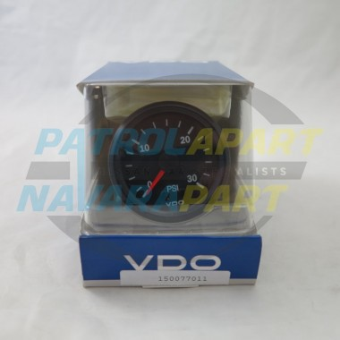 Genuine VDO Turbo Boost Gauge 0-30 psi