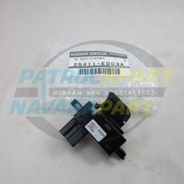 Genuine Nissan Navara D40 Spanish YD25 Window Switch 2010 on