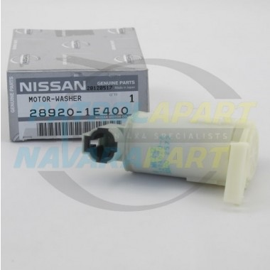 Genuine Nissan Navara D22 Early Front Washer Pump Motor Upto 2001