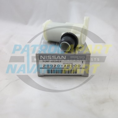 Genuine Nissan Navara D22 Front Washer Pump Motor 2001 onward