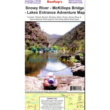 Snowy River - McKillops Bridge - Lakes Entrance Adventure Map - (Rooftop)