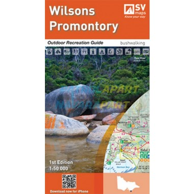 Spatial Vision Wilsons Promontory Outdoor Recreation Guide Map for Walking / Riding / Camping