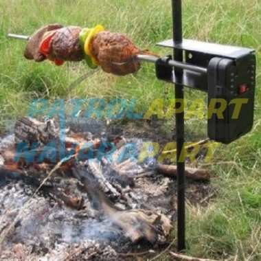 Auspit Basic Rotisserie Spit Kit Portable for Camping & 4wding
