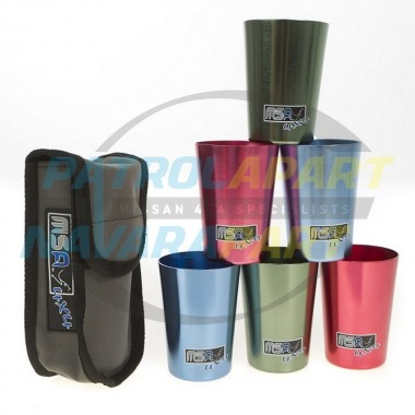 MSA Travel Cups Set 6cups for camping 4wd picnic