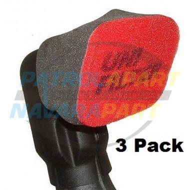 Uni Filter Snorkel Pre Cleaner Pack of 3 suit Safari