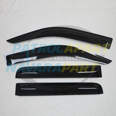 Nissan Navara D40 Tinted Slimline Weathershield Set of 4