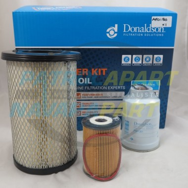 Nissan Navara D22 ZD30 Donaldson Air Fuel Oil Filter Kit
