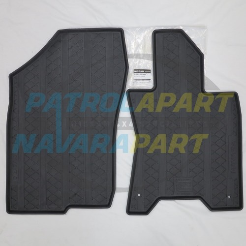 Genuine Nissan Navara D23 NP300 KC/DC Manual Rubber Floor Mats
