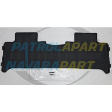 Genuine Nissan Navara D23 NP300 Dual Cab Rear Rubber Floor Mat