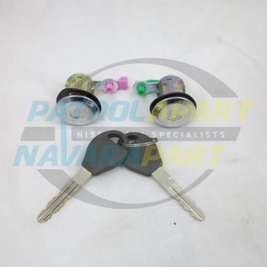 Front Door Lock Set Barrel & Keys for Nissan Navara D22