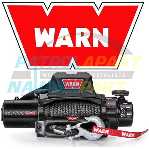 New Warn Tabor 10-S Synthetic Rope 4x4 Winch 10000lb Navara