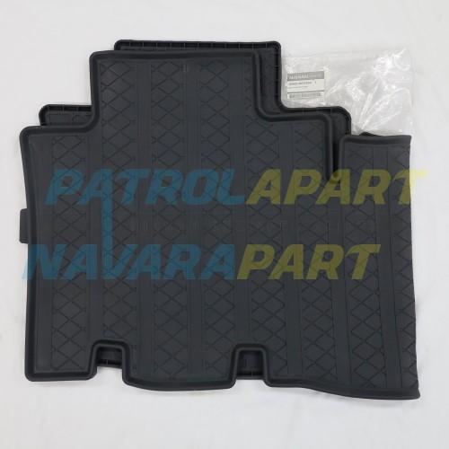 Genuine Nissan Navara D23 NP300 King Cab Rear Rubber Floor Mat