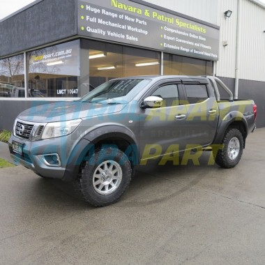 Nissan Navara D23 NP300 Matt Black Smooth Wheel Arch Fender Flares