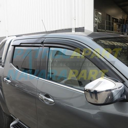 Nissan Navara D23 NP300 Premium Tinted Slimline Weathershield Set 4