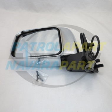 Nissan Navara D22 4WD Left Hand Electric Chrome Mirror 10/01 on
