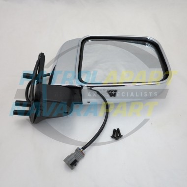 Nissan Navara D22 4WD Right Hand Electric Chrome Mirror 10/01 on