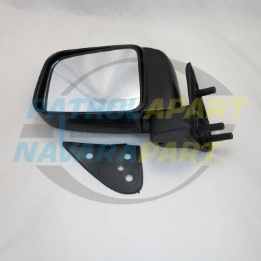 Nissan Navara D22 YD25 DX Left Hand Black Manual Mirror 2008 on